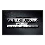 World Building Universit Sticker (Rectangle 10 pk)