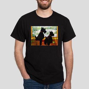 A Scotty Dog Christmas Dark T-Shirt