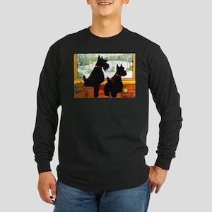 A Scotty Dog Christmas Long Sleeve Dark T-Shirt