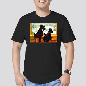 A Scotty Dog Christmas Men's Fitted T-Shirt (dark)