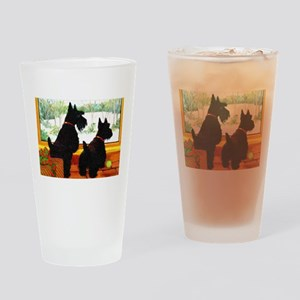 A Scotty Dog Christmas Drinking Glass