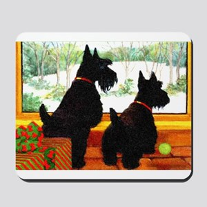 A Scotty Dog Christmas Mousepad