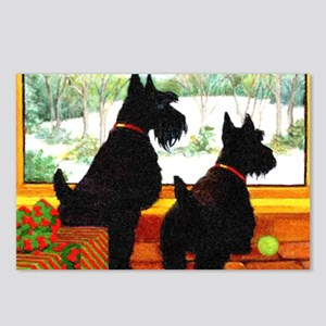 A Scotty Dog Christmas Postcards (Package of 8)
