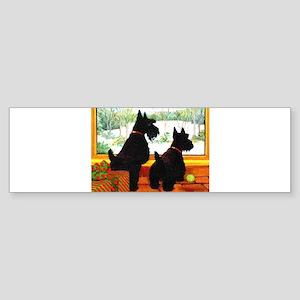 A Scotty Dog Christmas Sticker (Bumper)