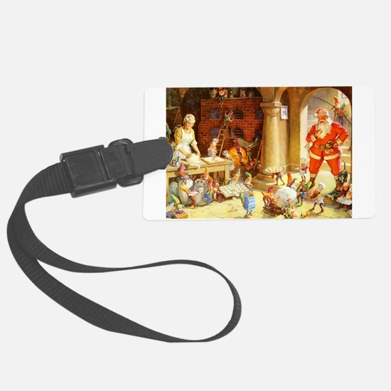 Mrs. Claus & the Elves Bake Chri Luggage Tag
