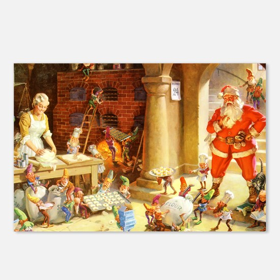 Mrs. Claus & the Elves Ba Postcards (Package of 8)