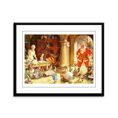 Mrs. Claus & the Elves Bake Chr Framed Panel Print