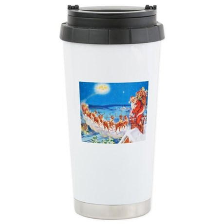 Santa Claus Up On The R Stainless Steel Travel Mug