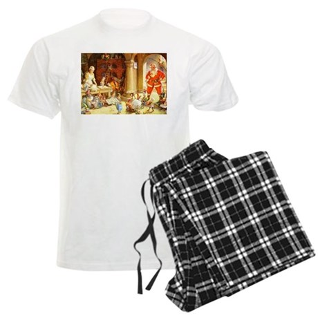 Mrs. Claus & the Elves Bake C Men's Light Pajamas