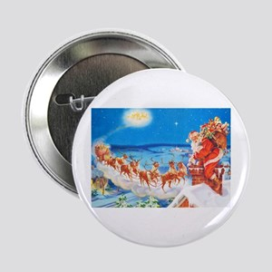 """Santa Claus Up On The Rooftop 2.25"""" Button"""