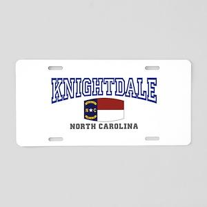 Knightdale, North Carolina Aluminum License Plate