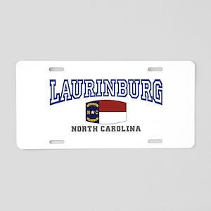 Laurinburg, North Carolina Aluminum License Plate