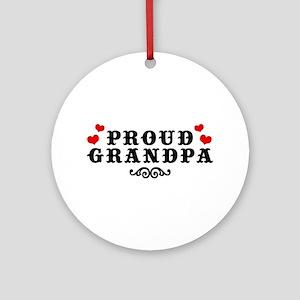 Proud Grandpa Ornament (Round)