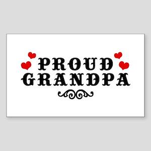 Proud Grandpa Rectangle Sticker