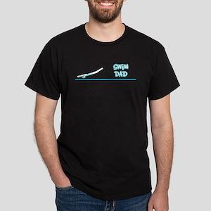 Swim Dad (girl) turquoise suit Black T-Shirt