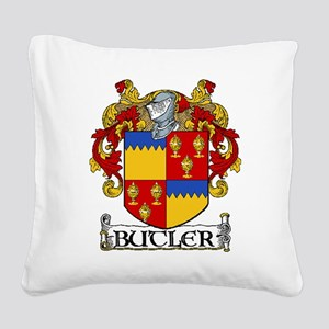 Butler Coat of Arms Square Canvas Pillow