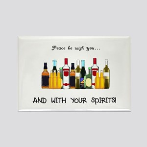 And With Your Spirits Rectangle Magnet