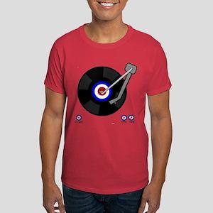Retro Mod vinyl record Player Dark T-Shirt