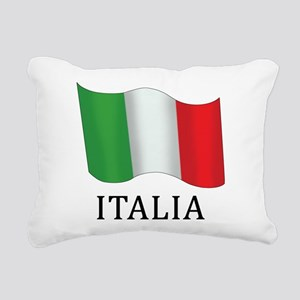 Italia Flag Rectangular Canvas Pillow