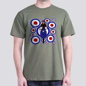 Retro Mod Girl On targets Dark T-Shirt