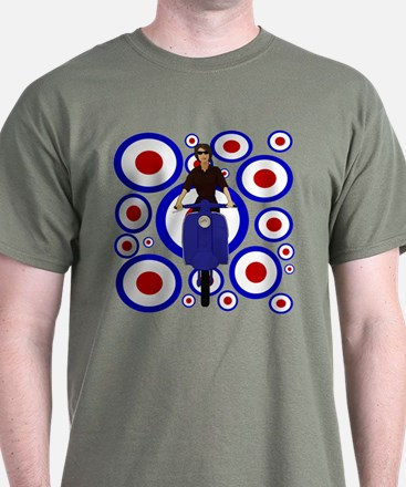 Retro Mod Girl On targets T-Shirt