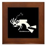 Kokopelli SCUBA Diver Framed Tile