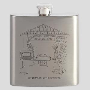 Computer Cartoon 1331 Flask