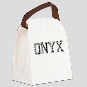 ONYX, Vintage Canvas Lunch Bag
