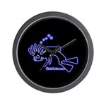Kokopelli SCUBA Diver Wall Clock