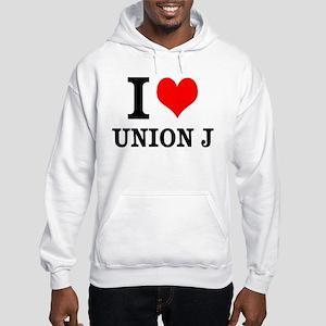 I Love Union J Hooded Sweatshirt