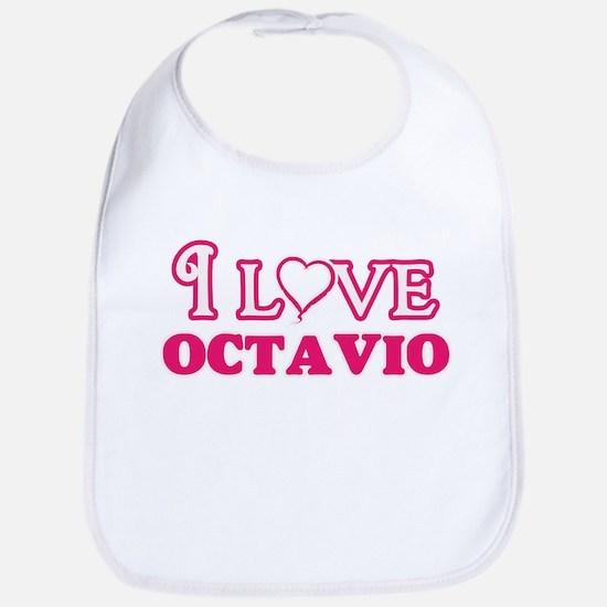 I Love Octavio Baby Bib