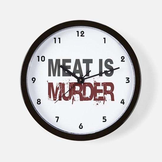 Meat Is Murder Veg*n Wall Clock