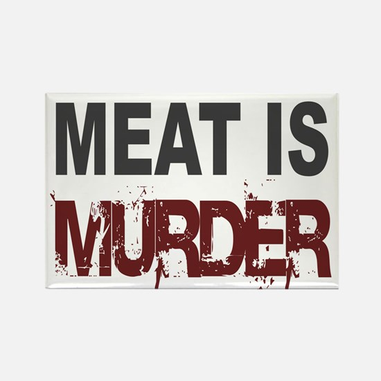 Meat Is Murder Veg*n Rectangle Magnet