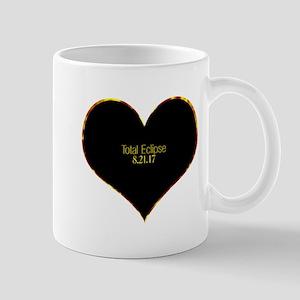 Total Eclipse 2017 Heart Mugs
