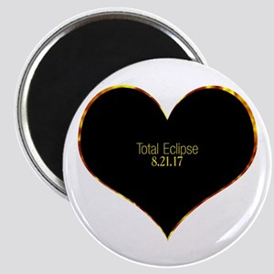 Total Eclipse 2017 Heart Magnets