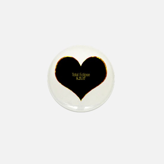 Total Eclipse 2017 Heart Mini Button