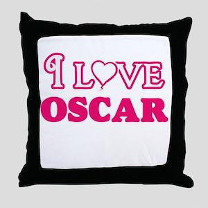 I Love Oscar Throw Pillow