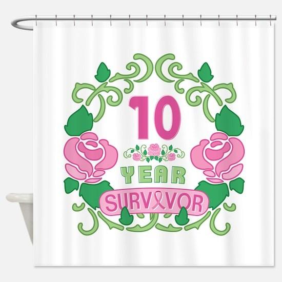 BCA 10 Year Survivor Shower Curtain