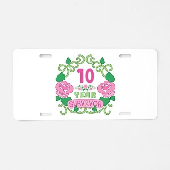 BCA 10 Year Survivor Aluminum License Plate