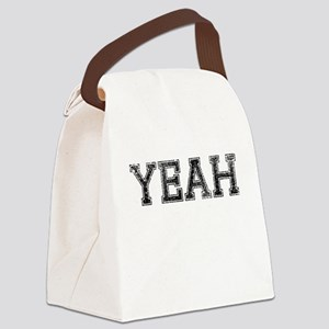 YEAH, Vintage Canvas Lunch Bag