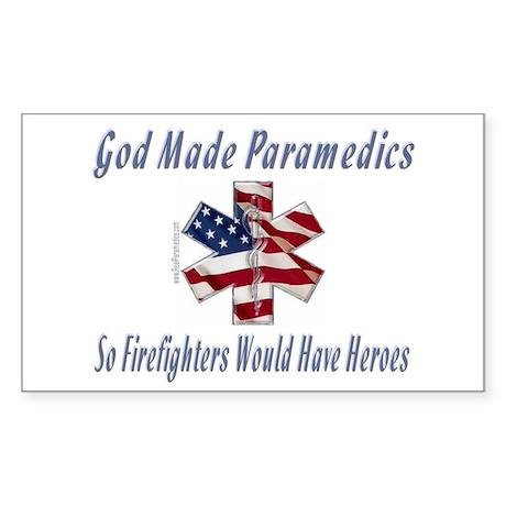 God Made Paramedics Rectangle Sticker