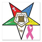 OES Breast Cancer Awareness Square Car Magnet 3