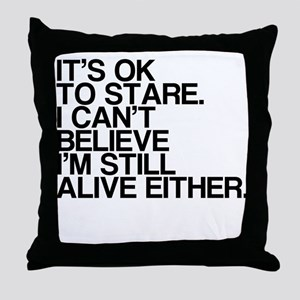 Old, OK To Stare, Funny Throw Pillow