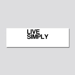 Live Simply Car Magnet 10 x 3