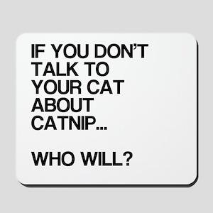 Funny, Catnip, Mousepad