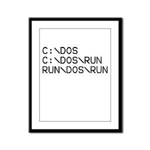 C Dos Run, Run Dos Run Framed Panel Print