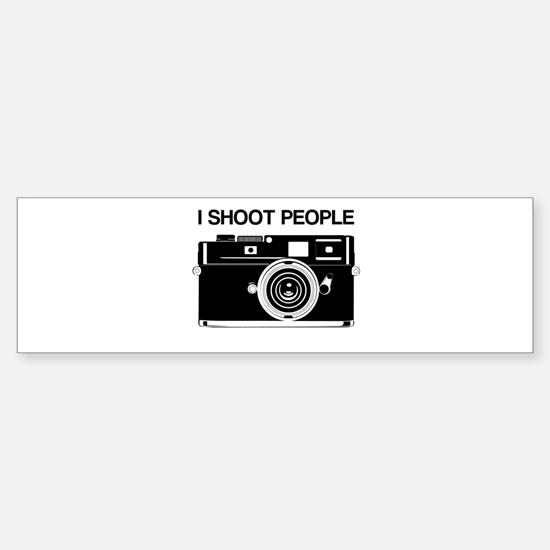 Photographer, I shoot people, Sticker (Bumper)