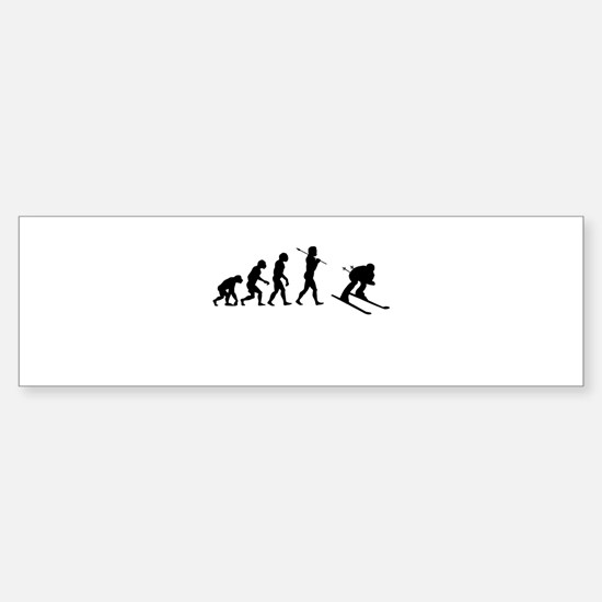 Evolved To Ski Sticker (Bumper)