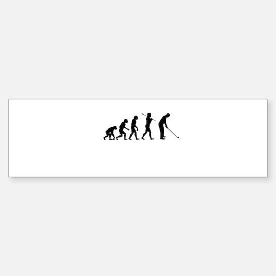 Golfer Evolution Sticker (Bumper)