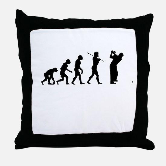 Funny Golf Throw Pillow